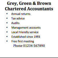 Poor ad for Grey, Green and Brown Accountants