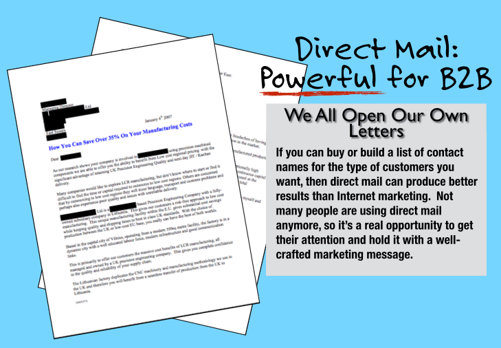 Direct mail is a powerful b2b marketing strategy