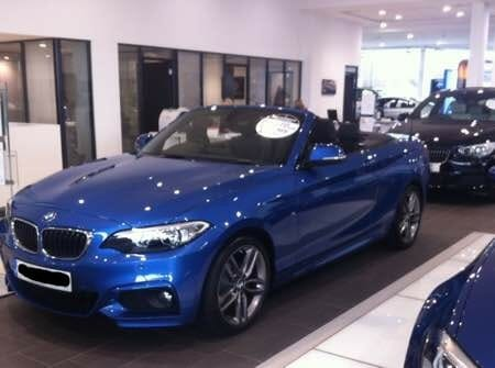 Julie bought her new BMW convertible in December, deciding she could afford it after all!